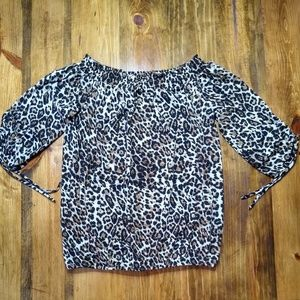 Leopard Print Top Size Small